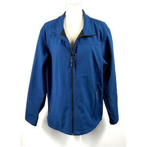 Mens SwissTech Navy Blue Jacket Size Large